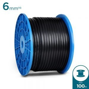 PGK 6mm DC Solar Twin PV1-F Cable 100 Metre Drum