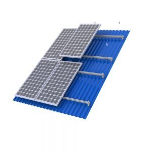 Powerwave 6 Panel 32mm TIN Roof Solar Mounting Kit Including 6 x 2.1 Metre Rails