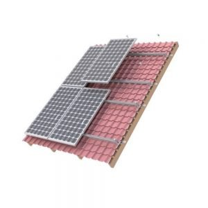 Powerwave 6 Panel 35mm TILE Roof Solar Mounting Kit Including 6 x 2.1 Metre Rails