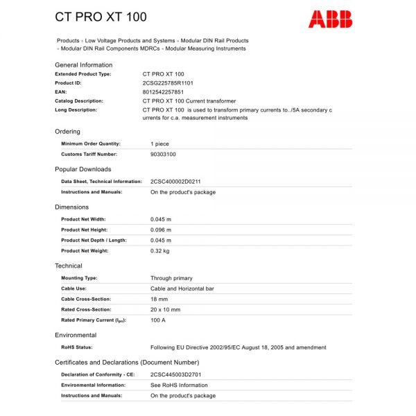ABB 100 Amp 1