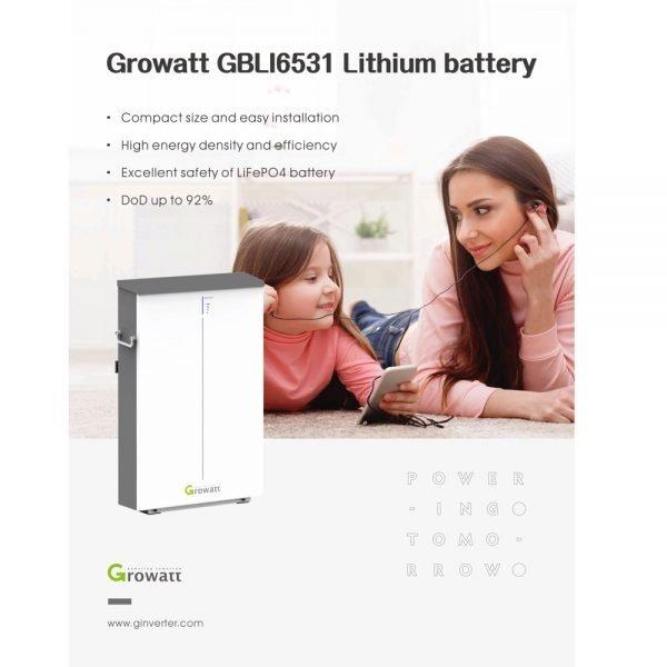 Growatt 6.5 lithiumbatery GBL16531 1